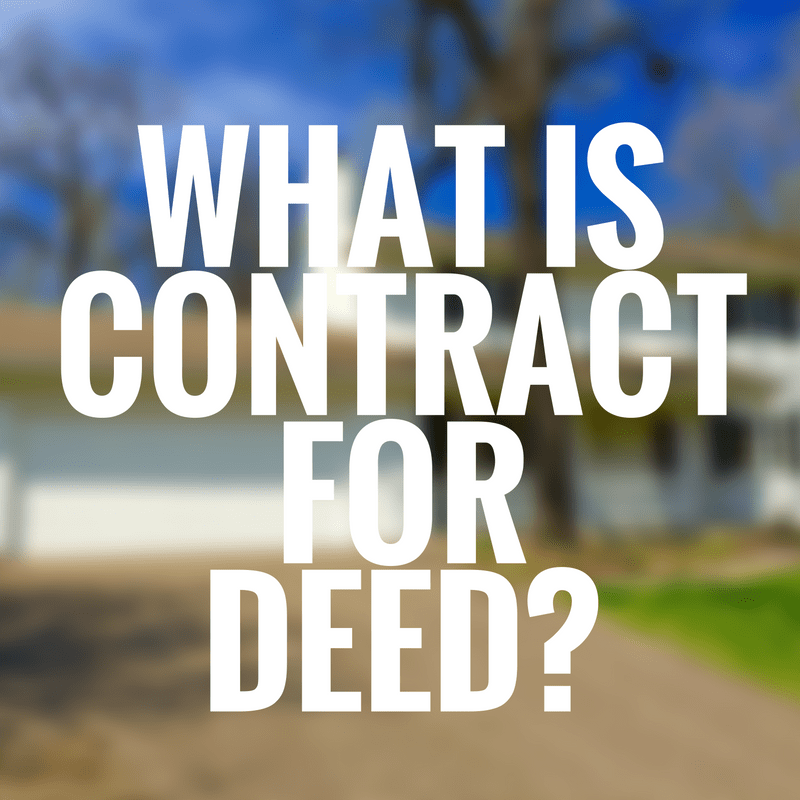 What is contract for deed